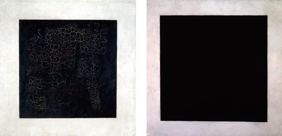 """Малевич. """"Чёрный квадрат"""". Повторения. 1915, 1923"""